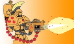 applejack apples crossover ghettomole gun humanized machinegun space_marine warhammer_40k weapon