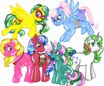 fizzy g1 gusty masquerade ribbon_wishes shady skypinpony wind_whistler