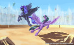 highres kirillk princess_luna princess_twilight twilight_sparkle
