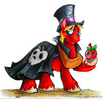 apples big_macintosh cape hat nightmare_night sophiecabra