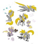 bubble carriehankins derpy_hooves dinky_hooves highres mail muffin