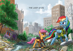bandage johnjoseco pipe rainbow_dash ruins scootaloo the_last_of_us urban