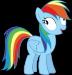highres moongaze rainbow_dash transparent vector