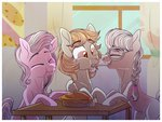 absurdres background_ponies diamond_tiara highres pie silver_spoon zodiaczero