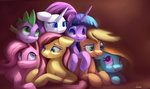 absurdres applejack auroriia fluttershy highres main_six pinkie_pie rainbow_dash rarity spike twilight_sparkle
