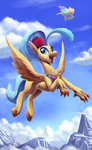 absurdres cloud dirigible flying highres mountain princess_skystar tsitra360