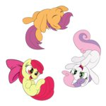 absurdres apple_bloom cutie_mark_crusaders highres scootaloo sweetie_belle wodahseht