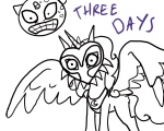 artist_unknown crossover lineart majora's_mask moon ponified princess_celestia the_legend_of_zelda transparent