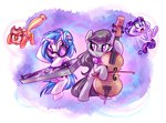 applejack octavia_melody rarijack-daily rarity vinyl_scratch whitediamonds