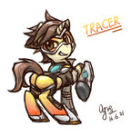 crossover highres ogre overwatch ponified tracer