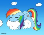 cloud empyu rainbow_dash sleeping