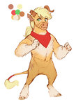 applejack earthsong9405 highres minotaur species_swap