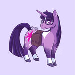 bag geminineart glasses redesign twilight_sparkle