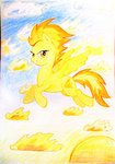 absurdres chimajra fire highres spitfire traditional_art