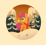 absurdres highres jimmyjamno1 scarf scootaloo snow trees