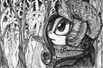 forest grayscale hat jacket rarity scarf sugarcube-owl