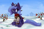 amy-gamy clothes highres princess_luna snow steampunk winter