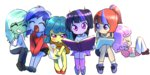 anime highres humanized lemon_hearts lyra_heartstrings minuette moondancer quizia twilight_sparkle twinkleshine young