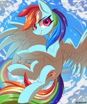 cloud colorsoundz flying rainbow_dash