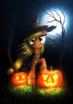 applejack costume halloween hat jack-o-lantern necklace pumpkin tagme theflyingmagpie