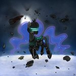 armor dead_space helmet highres lethalmoose princess_luna space