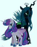 grown_up princess_flurry_heart queen_chrysalis verawitch