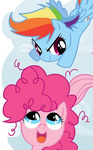 filly pinkie_pie rainbow_dash