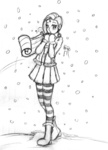coat highres humanized leadhooves rarity sketch snow snowing winter