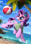 ball beach clothes glasses highres starlight_glimmer sunglasses tree yakovlev-vad