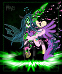 killryde magic princess_cadance queen_chrysalis