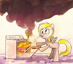 carly_hwang cooking derpy_hooves on_fire