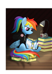book coffee highres i_shall_not_use_my_hooves_as_hands jacket lamp mug ponytail rainbow_dash svg tajarnia vector