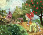 apples granny_smith rt scenery sweet_apple_acres tree young