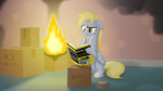 book cardboard_box derpy_hooves for_dummies on_fire parallax
