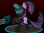 armor crossover dead_space fleur-di-cutie gun isaac_clarke twilight_sparkle weapon