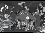 black_bars changeling egophiliac grayscale nightmare_moon original_character princess_luna seaponies woona