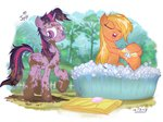 applejack bath jowybean princess_twilight twijacky_weekly twilight_sparkle