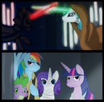 cartoonlion crossover princess_celestia rainbow_dash rarity spike star_wars twilight_sparkle