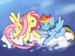 flutterdash fluttershy gmt-gabir rainbow_dash shipping