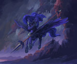 armor highres hunternif princess_luna spear weapon