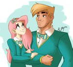 big_macintosh fluttershy humanized ric-m sweater the_ponytones