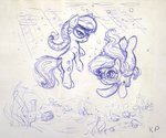 diamond_tiara kp-shadowsquirrel silver_spoon sketch swimming underwater