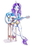 anthro earthsong9405 guitar highres rarity