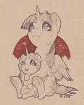 gor1ck highres princess_flurry_heart princess_twilight traditional_art twilight_sparkle