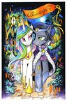 andy_price flowers highres king_sombra princess_celestia shipping traditional_art