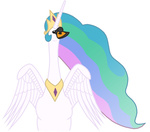 princess_celestia princess_swanlestia russelh species_swap swan swanified transparent