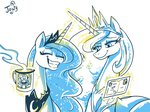 highres jowybean magic mug postcard princess_celestia princess_luna