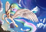 cloud flying highres princess_celestia thatfriendlysomeone