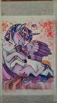 highres hugs maximasmac princess_twilight rarilight rarity shipping traditional_art twilight_sparkle
