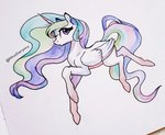 aanotherpony highres princess_celestia traditional_art
